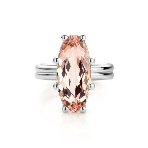 Ring morganiet gemaakt van platina