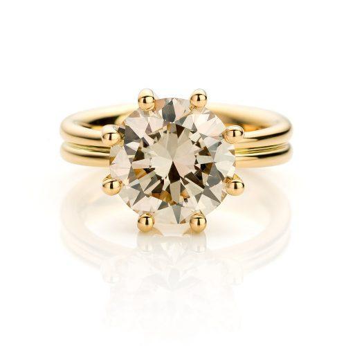 Ring geelgoud met diamant