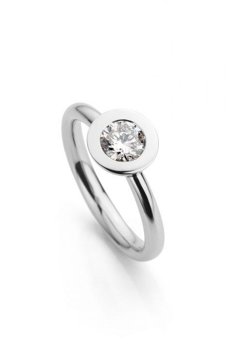 platina Ring met diamant